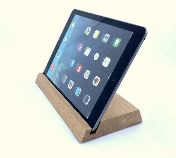 iPad stand/organizer  oak wood, Ideal as a Gift