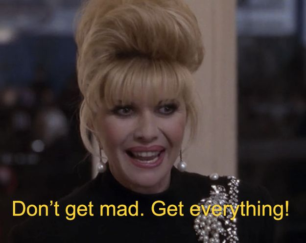 "And Ivana Trump is a backer, but clearly just wants all the First Wives shenanigans. | The 30 Most WTF Things About ""The First Wives Club"""