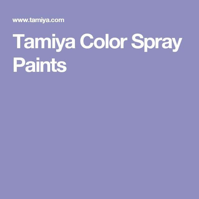Tamiya Color Spray Paints