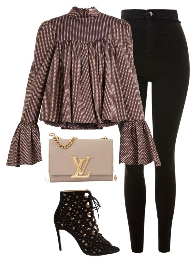 """""""Untitled #1028"""" by bellax0x on Polyvore featuring Topshop, Caroline Constas, Bionda Castana, Louis Vuitton, Cartier, GUESS and Stella & Dot"""