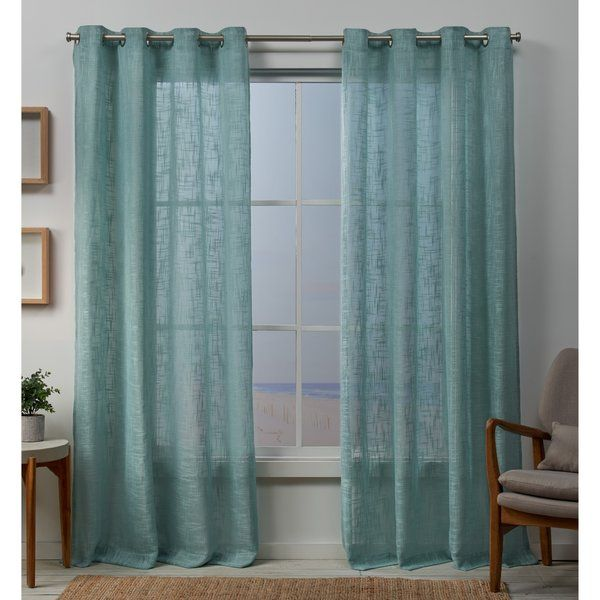 Boykins Solid Sheer Grommet Curtain Panels Home Curtains