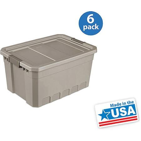 Sterilite 19 Gallon Stacker Tote Mica Set Of 6 Order 700