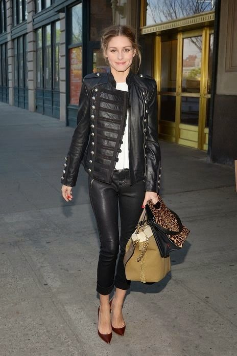 The Olivia Palermo Lookbook Style Pinterest Nueva York Cuero Negro Y Militar