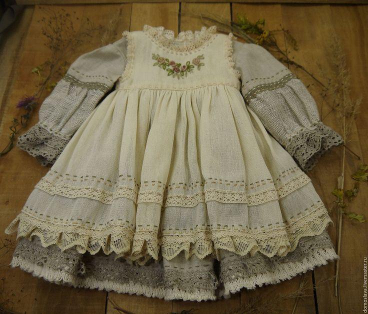 Купить Одежда для кукол в бохо стиле - бежевый, одежда для кукол, бохо стиль, бохо