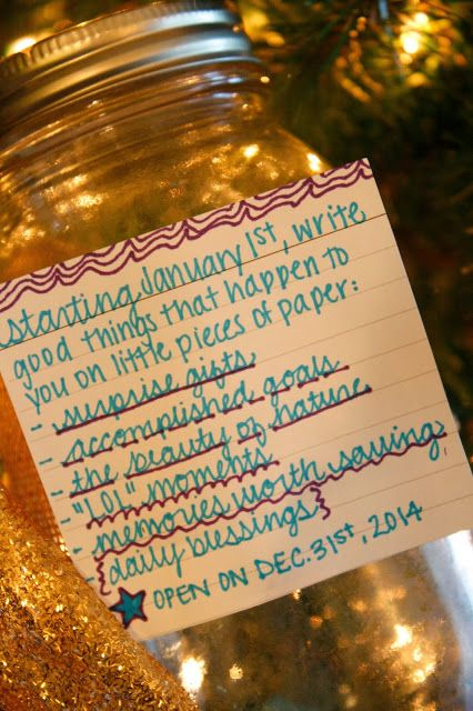 Here's to 2014.  New Year Resolution ideas.