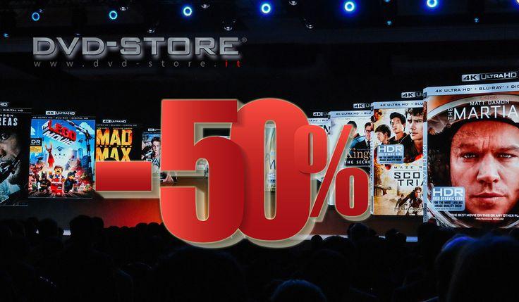 Ultra HD Blu-ray a metà prezzo: panoramica dei migliori titoli 4K. Dvd-store.it dimezza i prezzi di moltissimi film in Ultra HD Blu-ray (acquistando almeno 3 titoli). Ma quali vale davvero la pena di avere -o aggiornare- al nuovo supporto? Ecco la nostra overview...