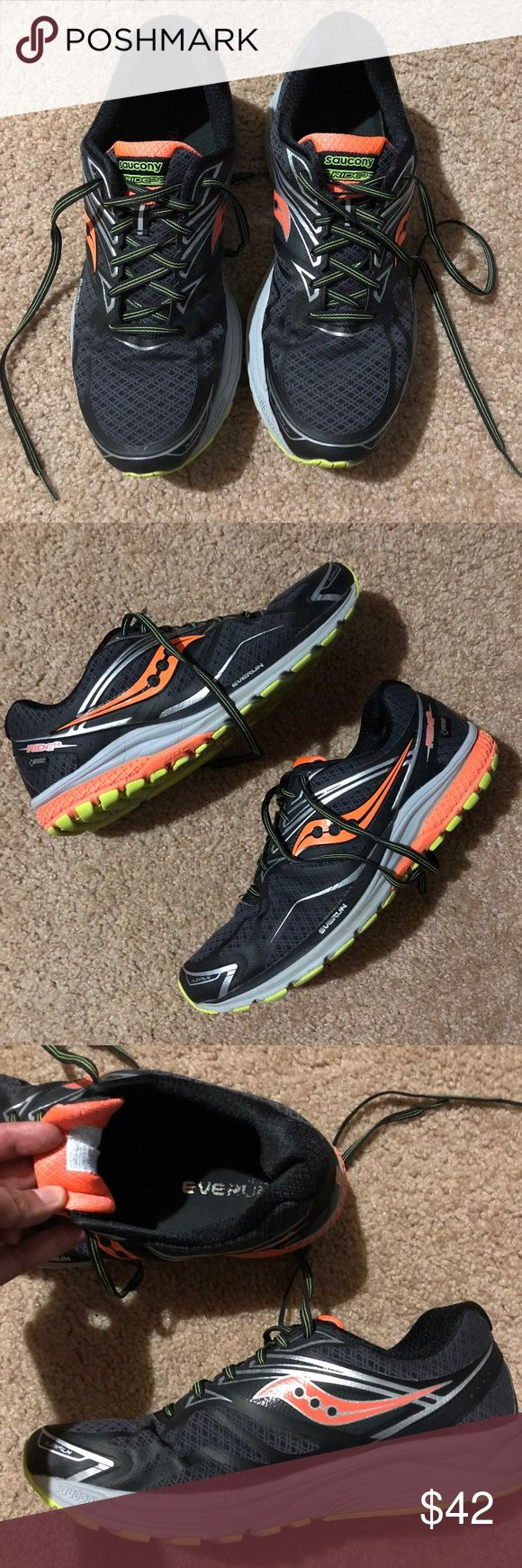SAUCONY RIDE 9 GORE-TEX Running Shoes Men's size 11 - GORE-TEX Waterproof running shoes. Shoes in excellent used conditions. Shoes still have lots of traction on them still. Saucony Shoes Athletic Shoes