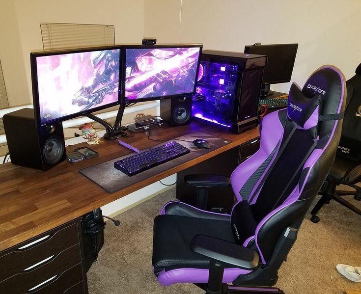 Gamer Girl Setup! – – #GamerRoom|DIY