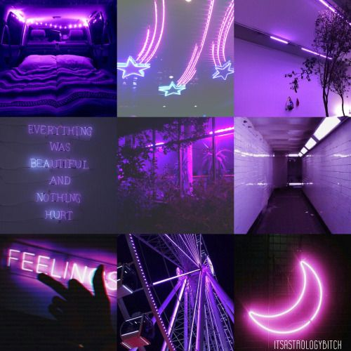 Taurus Neon Glow Aesthetic Purple Taurus Lay With Me