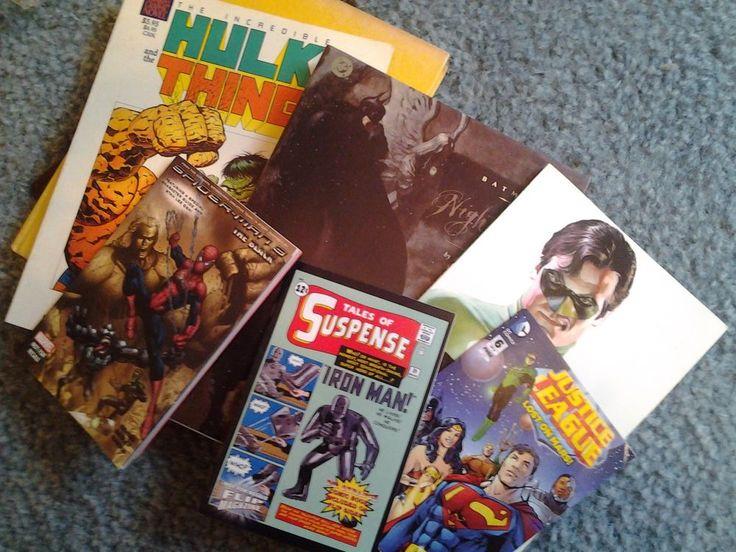 Lot of 6 comic books & Comix a history of comic books in America