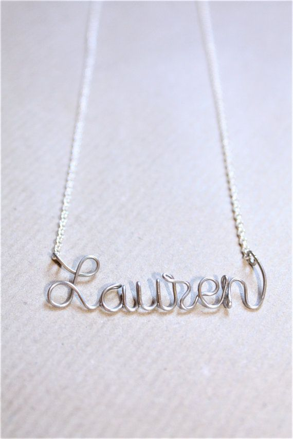 Personalized Name Necklace  Dainty Name Necklace  by DiAndDe