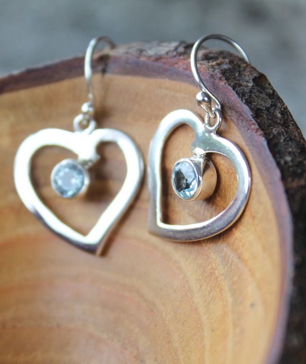 925 Silver Blue Topaz Earrings | Treat Yourself Today