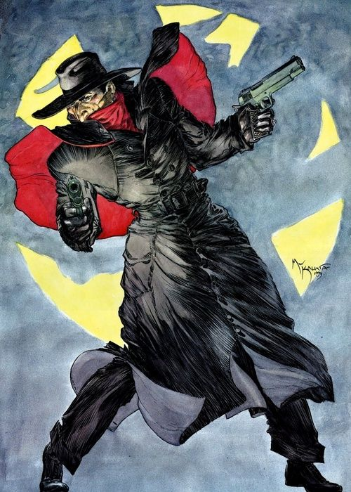 The Shadow by Michael Kaluta. Absolutely one of the coolest Shadow pieces I've ever seen.
