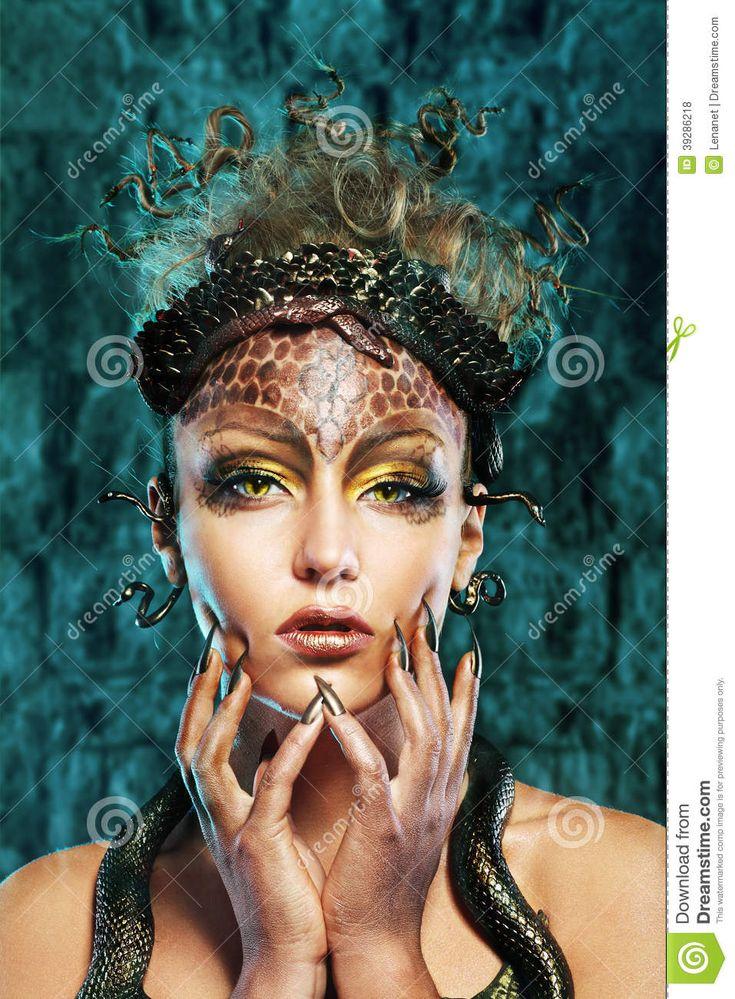 Medusa Makeup - Google Search  Halloween  Medusa Makeup -3631