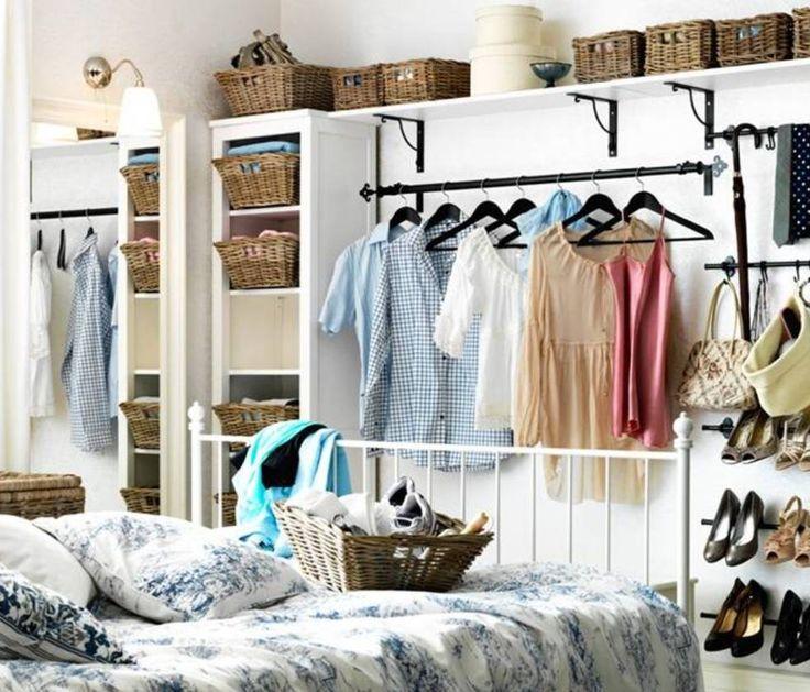 Armarios abiertos en dormitorios peque os ideas for Decoracion piso pequeno ikea