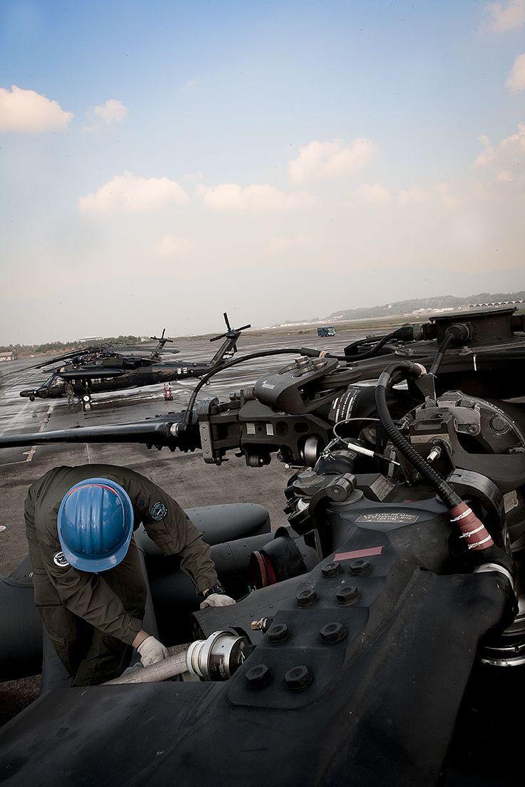 Stationed HH-60 Black Hawk