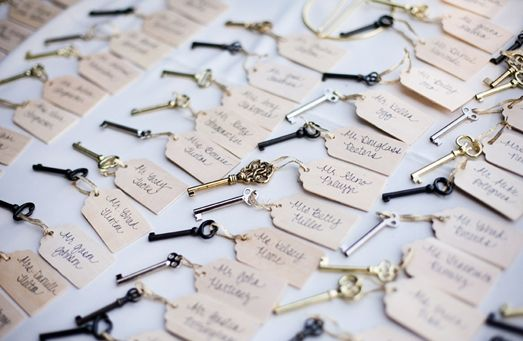Glamorous Wedding With Vintage Key Wedding Favors (favors romantic glamorous vintage) - Lover.ly