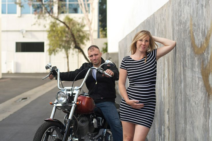 maternity, modern, motorcycle, rocker chic, on location sessions, industrial