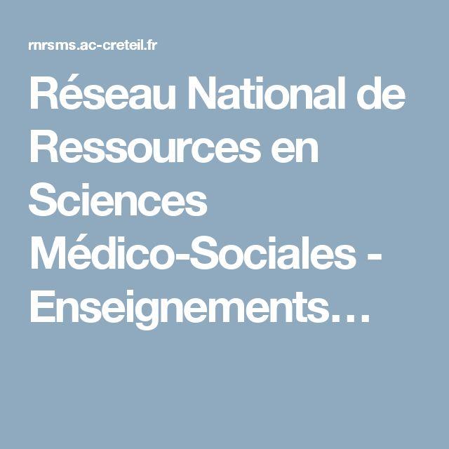 Réseau National de Ressources en Sciences Médico-Sociales - Enseignements…