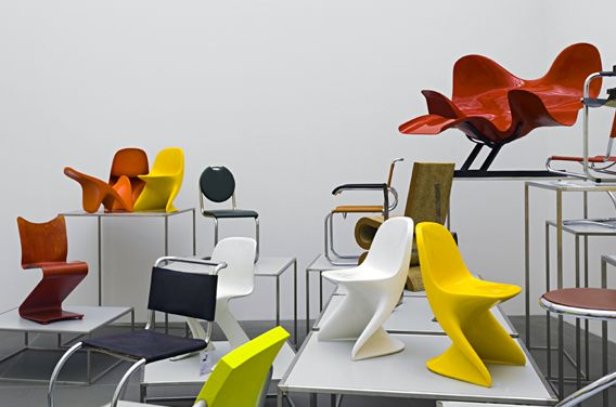 Chairs Without Legs at the Bauhaus-Archiv.