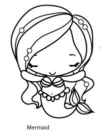 The Greeting Farm - Mermaid Anya Rubber Stamp Set