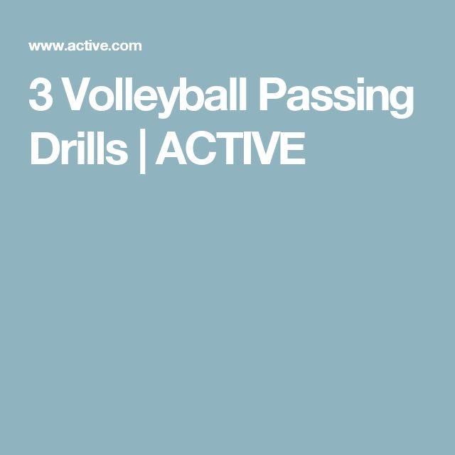 3 Volleyball Passing Drills | ACTIVE
