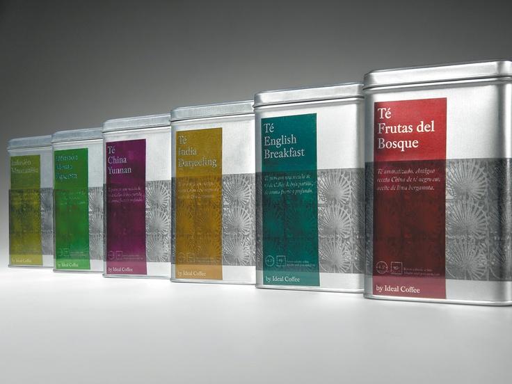 Packaging de una nueva línea de tés e infusiones a granel para el canal Horeca (Hoteles, Restaurantes y Cafeterías). 2006. Sys Café. Diseño de Artimaña - www.artinet.net