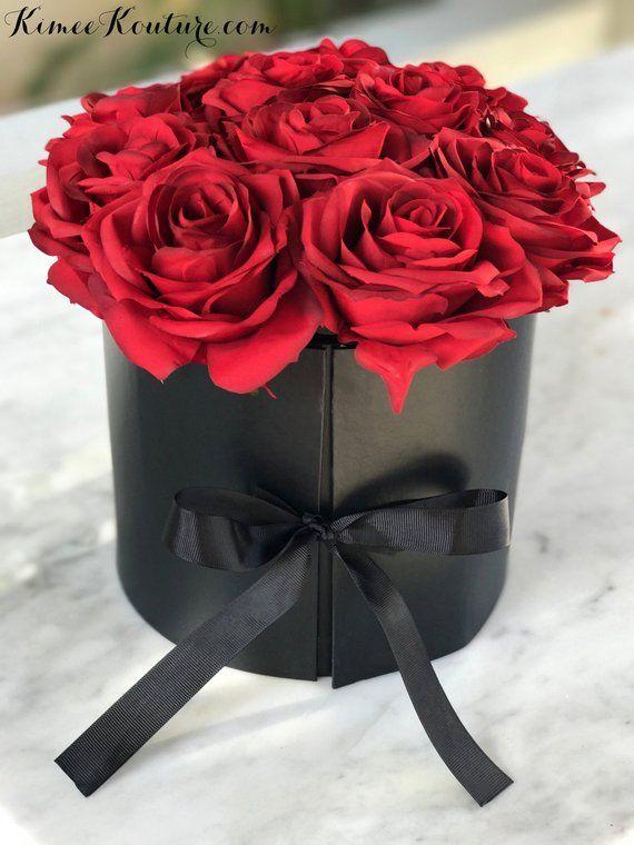 Round Rose Box Arrangement Flower Box Bouquet Roses In A Etsy Olive Oil Cake Disney Bride Rose Gift