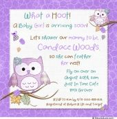 What a Hoot! Hoot owls baby shower invitation design uses little birds & snowflakes, sweet owls, personalized text for adorable winter fun. Girly pink