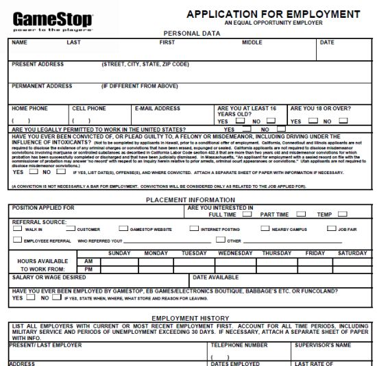 17 Best images about Job Application Forms – Job Application