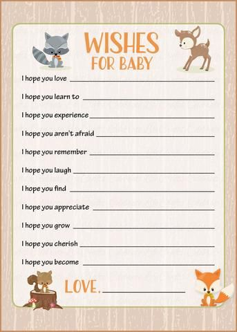 wishes for baby template printable - best 25 baby shower keepsake ideas on pinterest baby