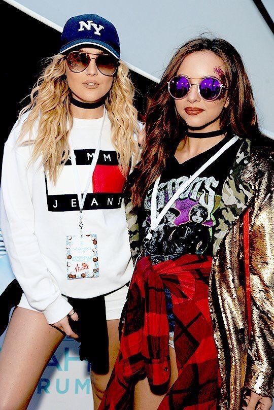 Perrie and Jade today at V Festival   21.08.16