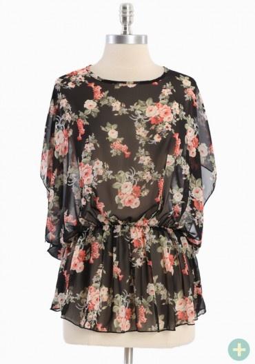Remember Blossom Curvy Plus Top: Chiffon Blouses, Flutter Sleeve, Sheer Chiffon, Beautiful Roses, Blossoms Curvy, Rose Prints, Remember Blossoms, Nice Blouses, Fantasy Closets