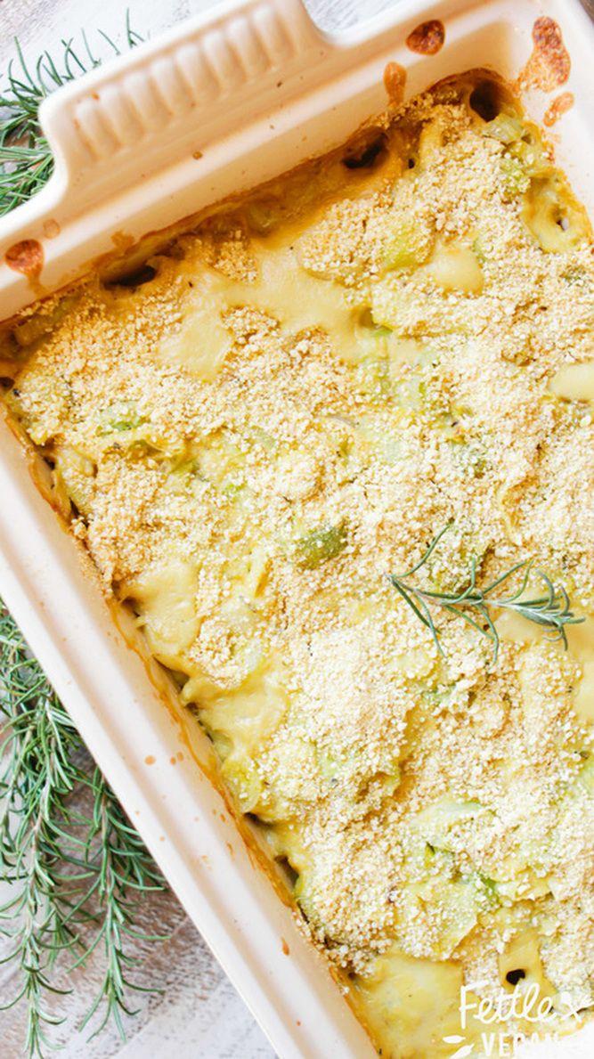 Easy Vegan Potato Leek Gratin -use EV olive oil instead of coconut oil ...