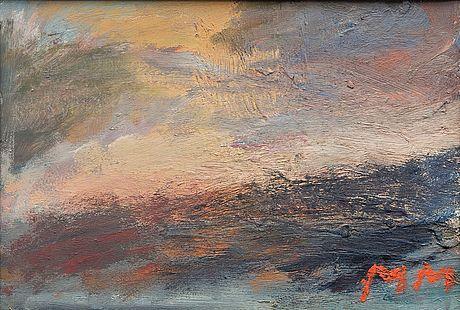 Mauno Markkula: Myrsky, öljy kartongille, 24x35 cm - Bukowskis Market 4/2016