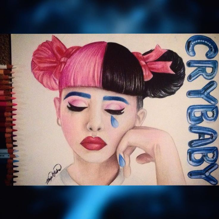 CRY BABY FAN ART for Melanie Martinez Portraits aren't my strongsuit, but it was for her new album << this is amazing