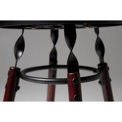 Boston 30 Barstool Metal/Dark Cherry (Red) Wood - Fashion Bed Group