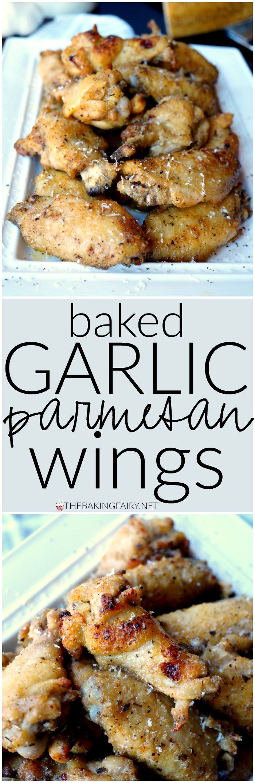 baked garlic parmesan wings | The Baking Fairy