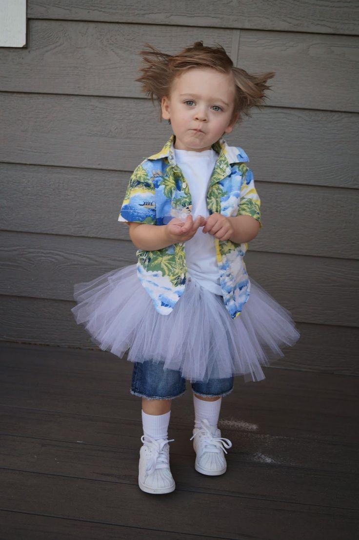 DIY Ace Ventura Pet Detective Toddler Costume
