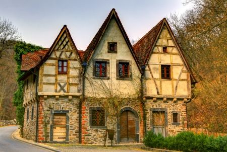 i dream of a house w/ half-timbering on it like this German Cottage -