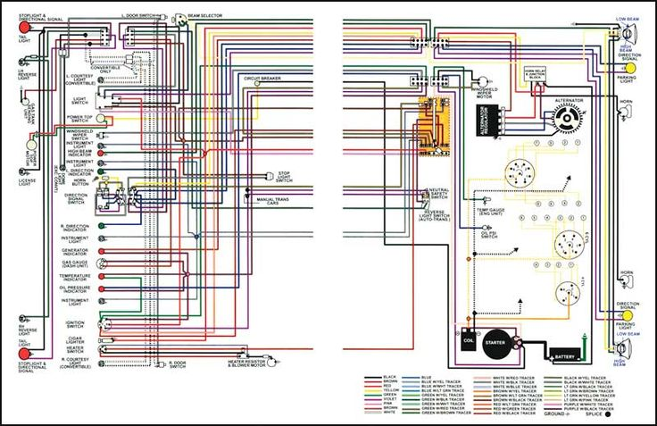 1967 Chevrolet Truck Full Colored Wiring Diagram
