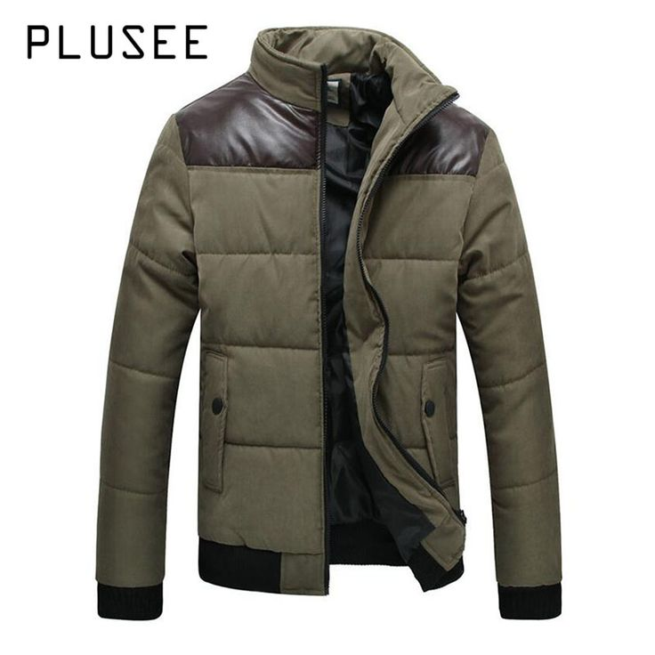 Plusee 2017 Men Winter Parka Black Warm Thick Thermal Male Patchwork Coat Fashion Stand Collar Jacket Clothing Men Winter Parka * AliExpress Affiliate's buyable pin. Locate the offer on www.aliexpress.com simply by clicking the image #Men'sJackets