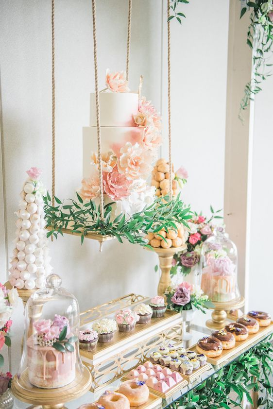 Baby Shower Sweet Table Ideas baby shower candy table decorations ideas A Darling Dessert Display For A 1st Birthday With Gorgeous Captures By Lestelle