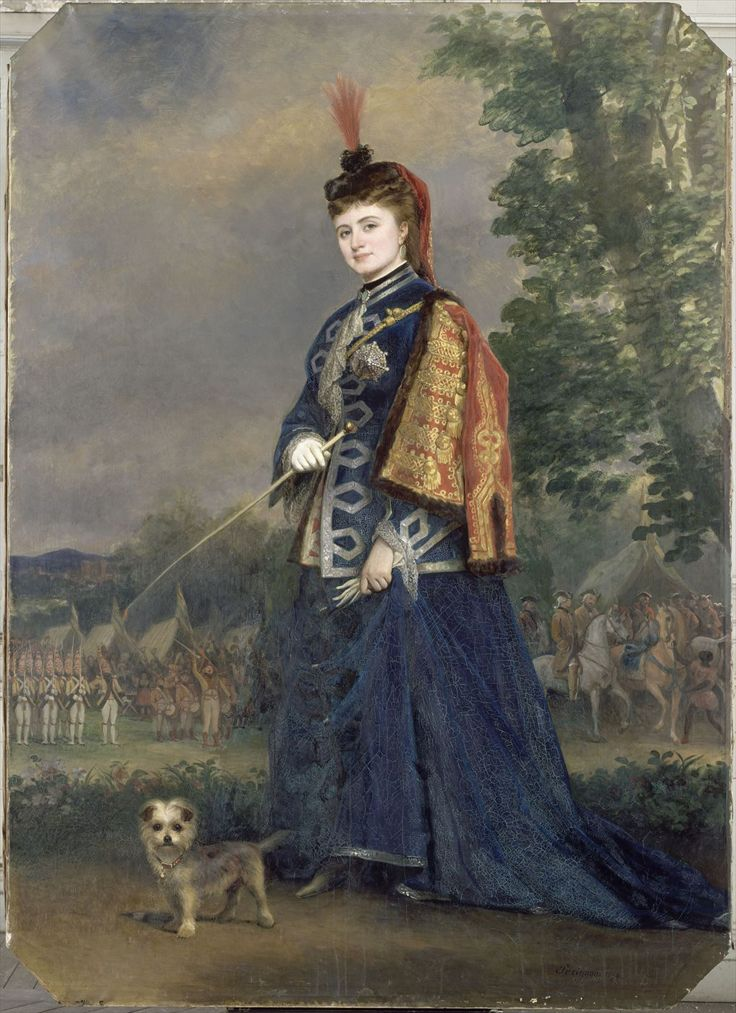 Hortense Schneider (1833-1920)  by Alexis Joseph Perignon (1806-1882) - Elle s'installe à Paris en 1855. C'est vers cette époque qu'elle abandonne son prénom originel pour celui d'« Hortense », qui était celui de la mère de l'empereur.  Elle devient la maîtresse du chanteur Jean Berthelier, qui la présente au compositeur Jacques Offenbach. Celui-ci l'engage immédiatement aux Bouffes-Parisiens qui venait d'ouvrir le 5 juillet de cette année-là.