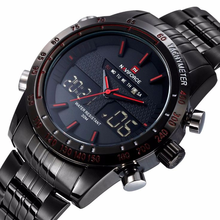 NAVIFORCE Watch Men Luxury Brand Stainless Steel Analog-Digital Led! http://mobwizard.com/product/naviforce-w32690498200/  #watch #watches #fashion #man #woman #classic #luxury #newdesign #leather