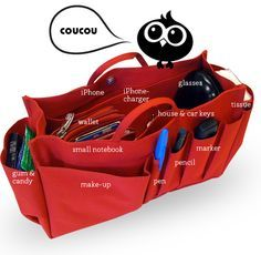 cou cou bag organizer - 'keep your stuff under control' - 'change bags in a twinkel'