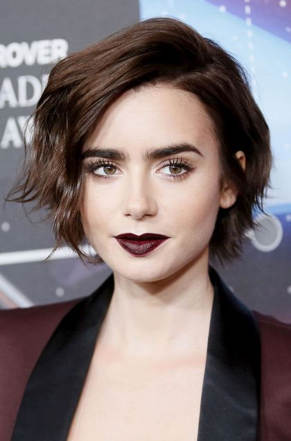 Tremendous 1000 Ideas About Lily Collins Bob On Pinterest Chelsea Kane Short Hairstyles For Black Women Fulllsitofus