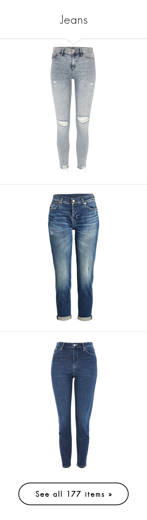 """""""Jeans"""" by piggy-nl ❤ liked on Polyvore featuring pants, leggings, jeans, river island, jeggings, women, jeggings leggings, skinny jeggings, ripped denim leggings and tall pants"""