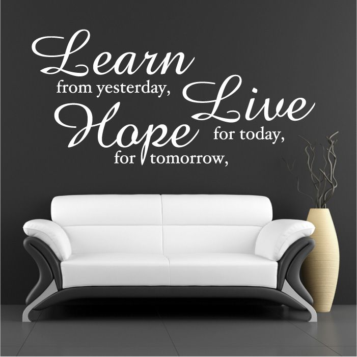 Learn Live Hope Wall Quote Sticker Part 43