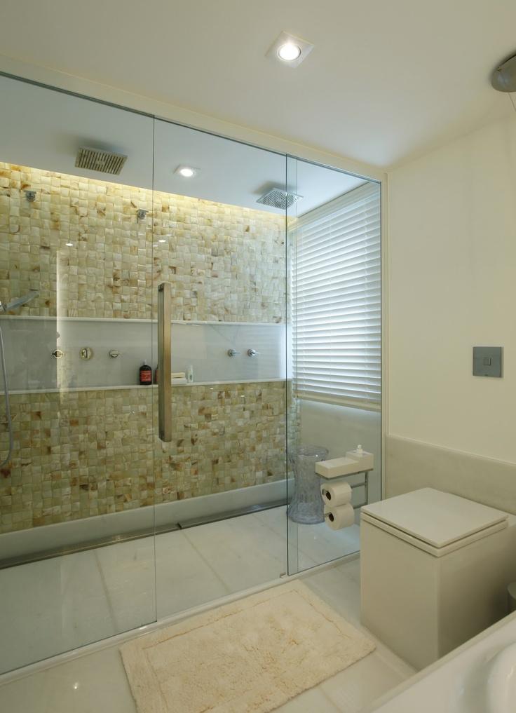 Amei Esse Box Com Revestimento De Pedra Banheiro Pinterest Relaxing Bath And Bathroom